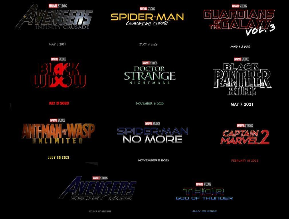 New Marvel Phase 4 Slate Imagined In Fan Graphic | Marvel
