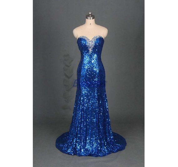 2016 long royal blue sequins prom dress hot bdf824e1622d