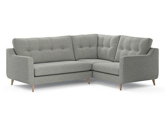 Compact corner sofa leather for Edit 03 sofa