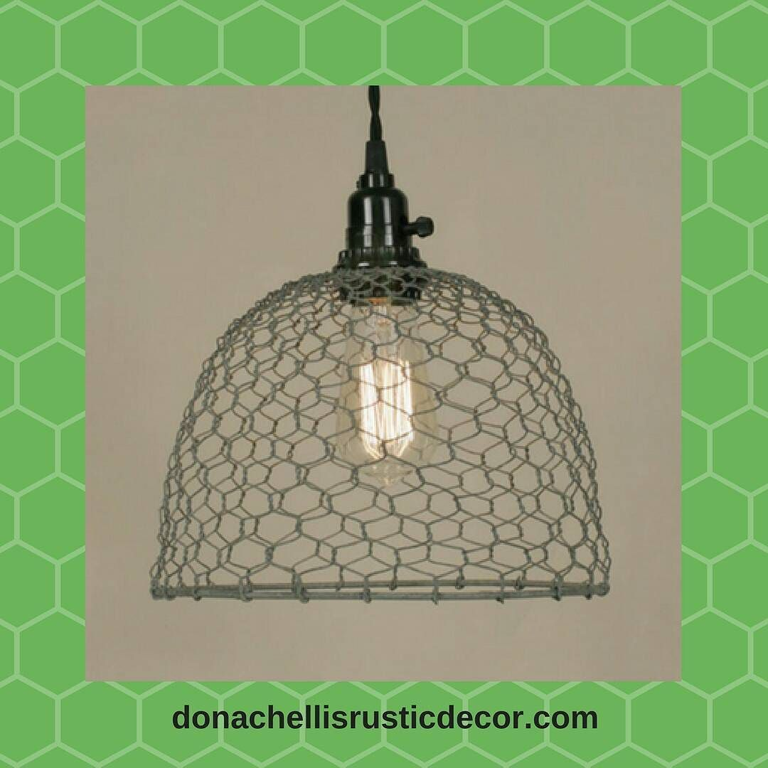 Light up your decor with French country style. Our Chicken Wire Dome ...
