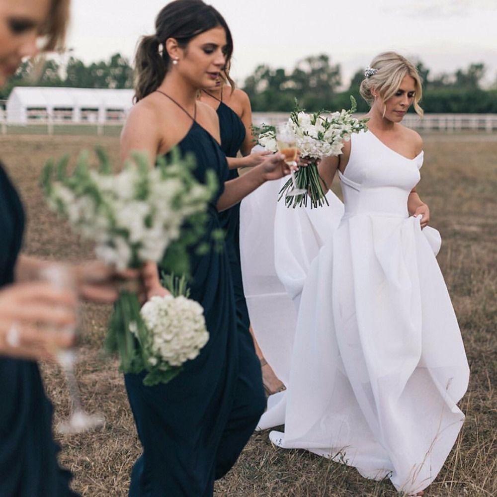 Simple elegant wedding dress designers  Free Shipping Buy Best vestido de noiva A Line Unique Design Neck