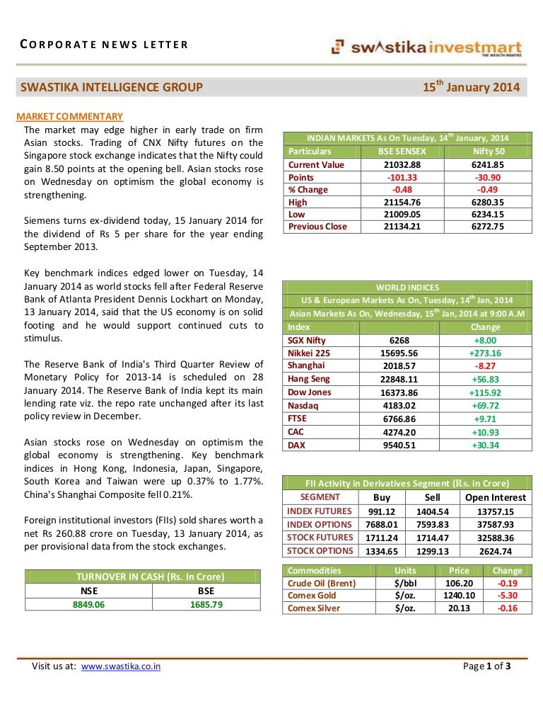 Morning Newsletter Oil India, Coal India, Tata Motors, Tata Steel  15th jan by research4u via slideshare