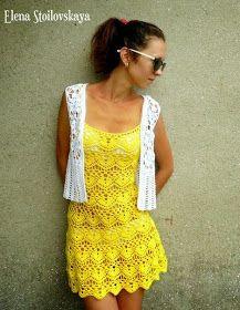 CARAMELO ARDIENTE es... LA PRINCESA DEL CROCHET: vestido amarillo