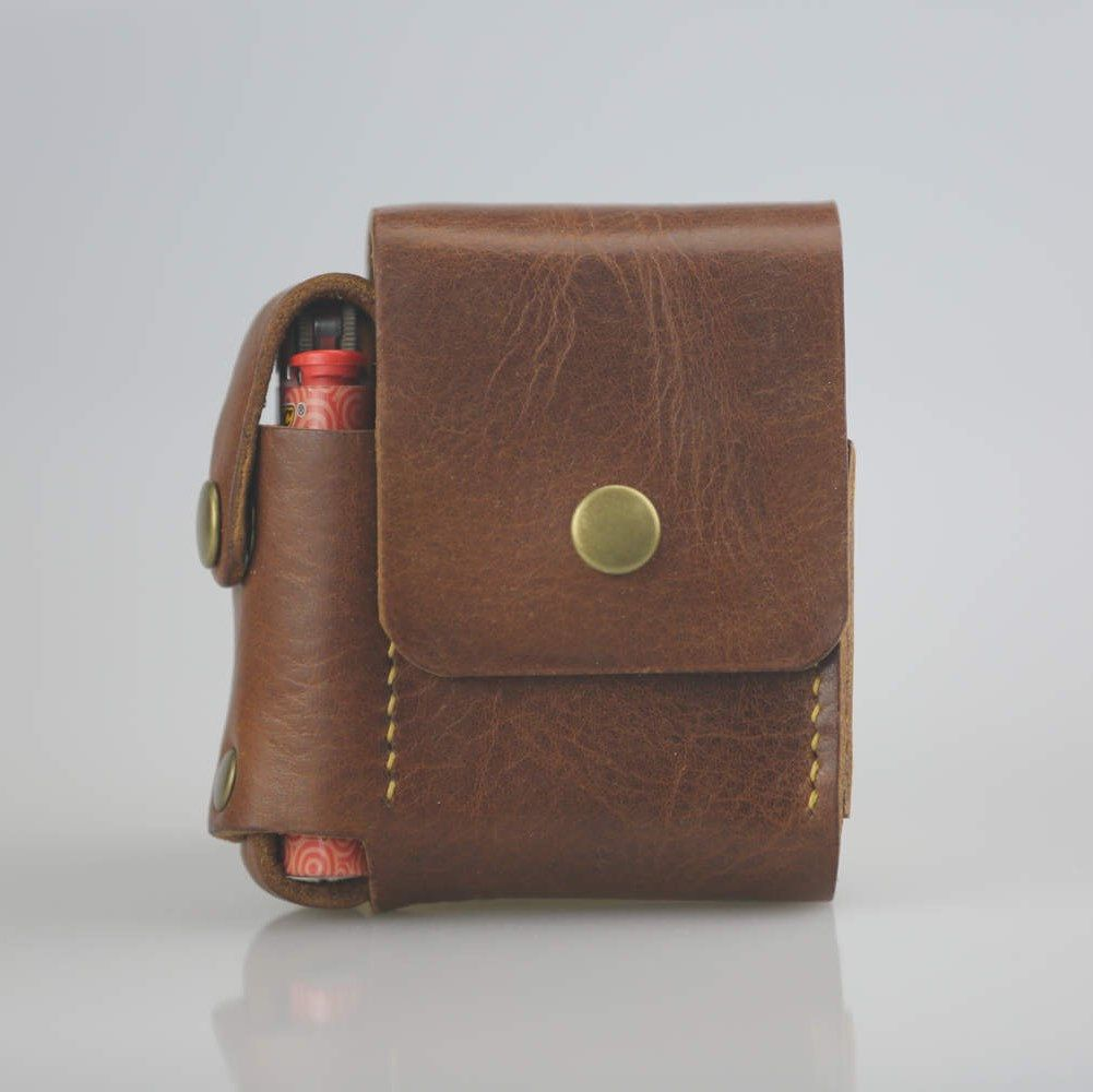 Pin On Leather Cigarette Case
