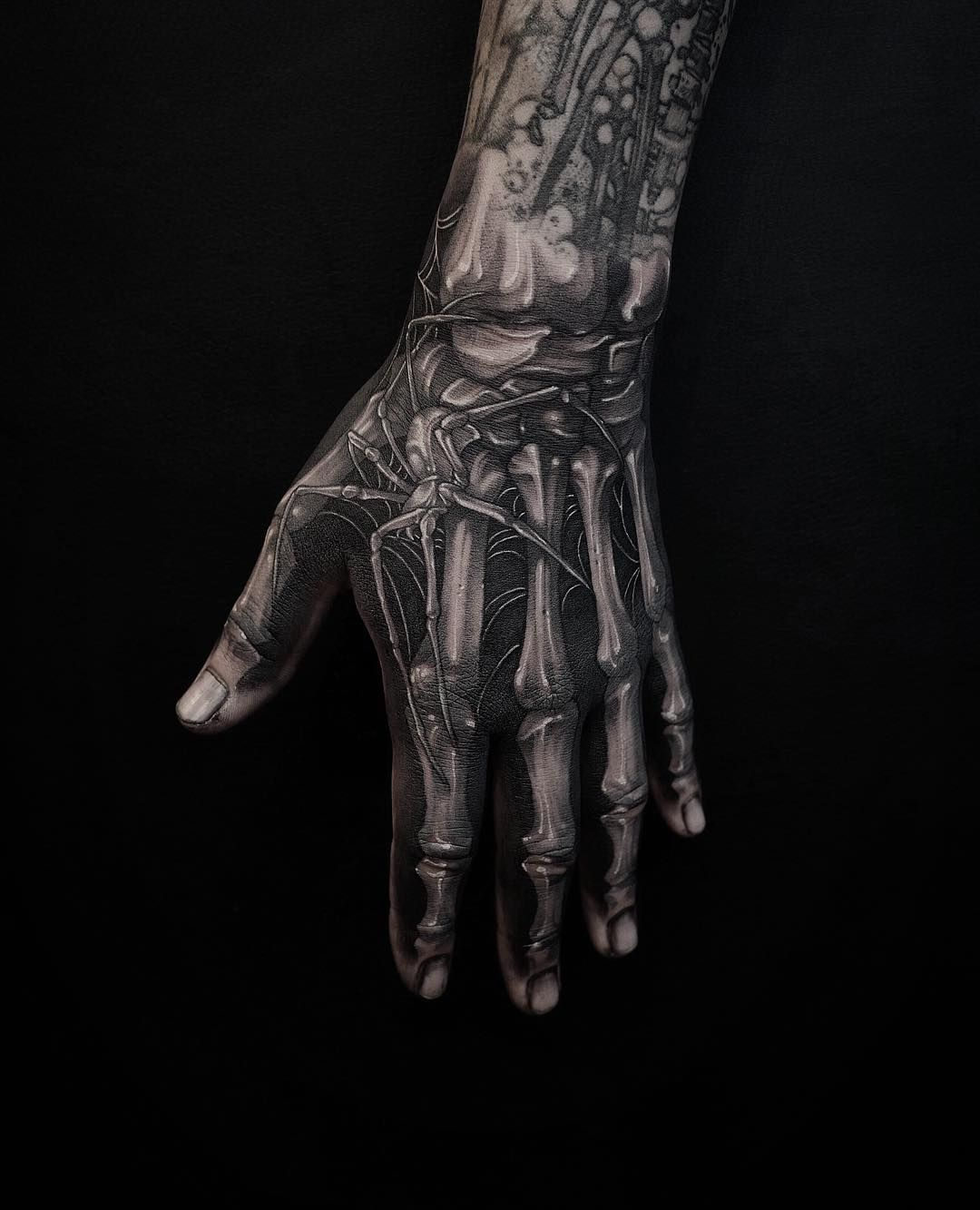 Done At Lighthouse Professional Tattoo Hand Tattoos For Guys Hand Tattoos Bone Hand Tattoo