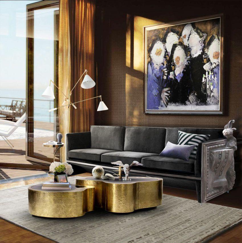Wohnzimmer Frühling Möbel Trends 5 Samt Sofa Ideen