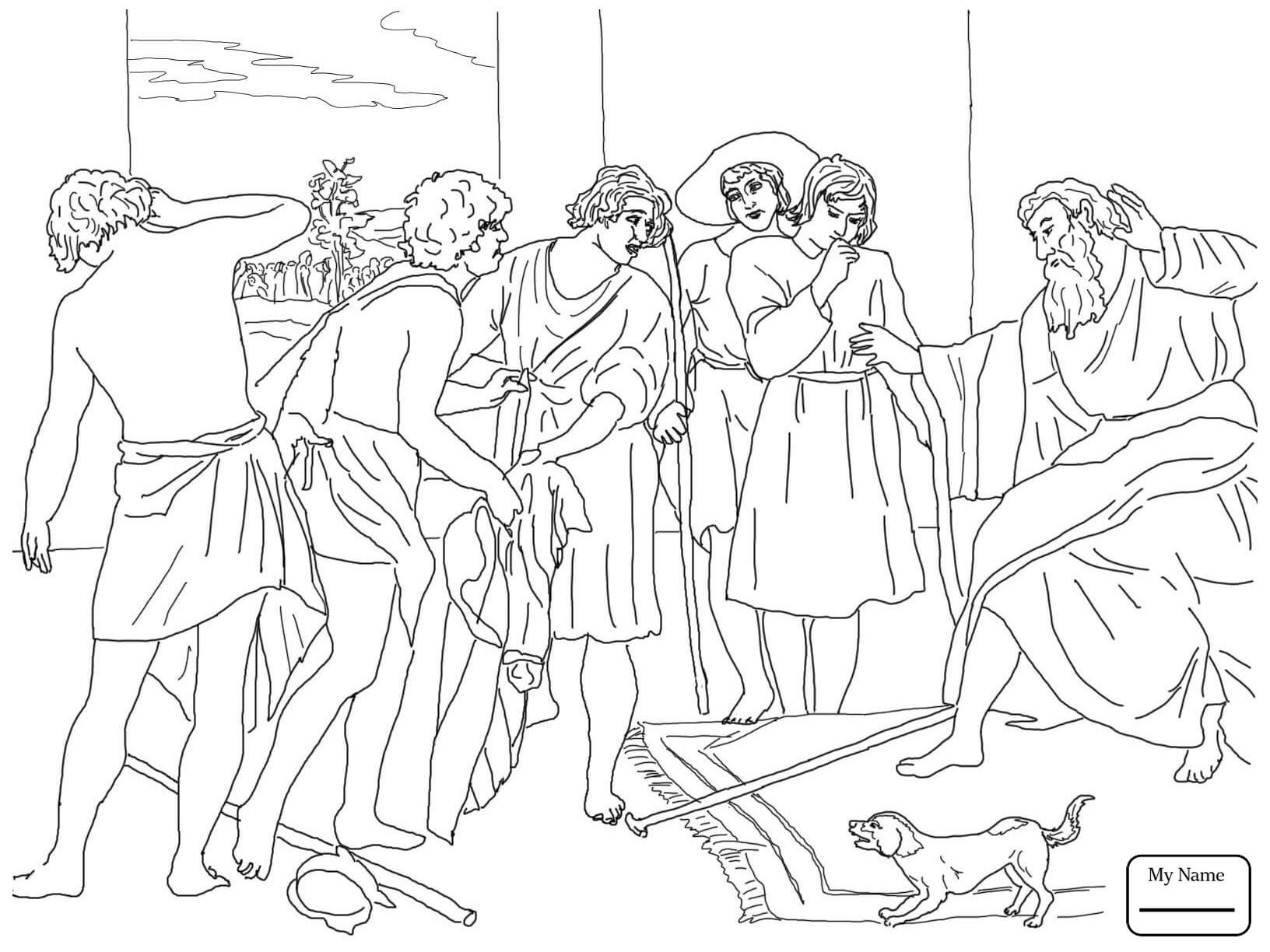Joseph Sold Into Slavery Coloring Pages Printable