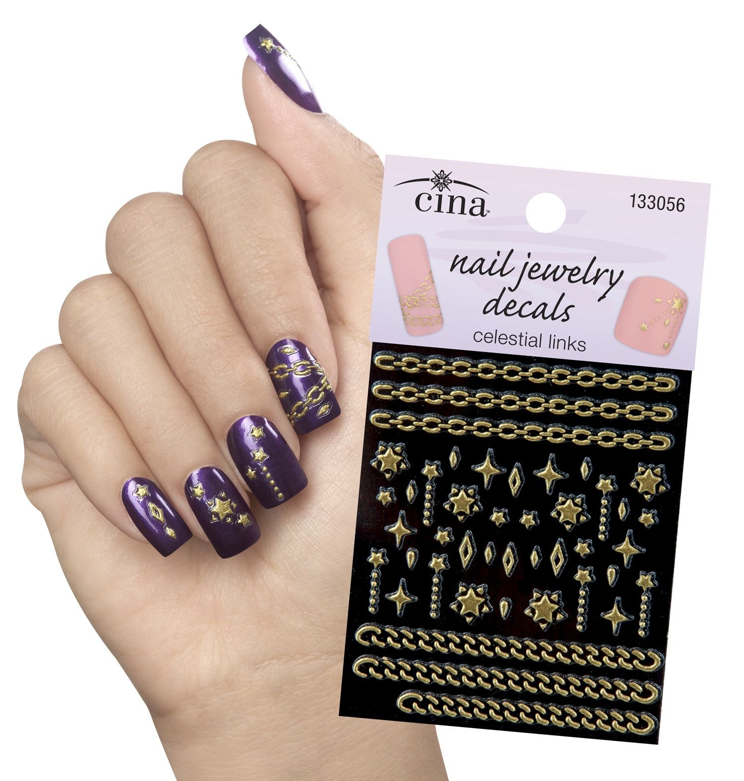 Cina Nail Jewelry Decals Perfect For Galaxy Nails