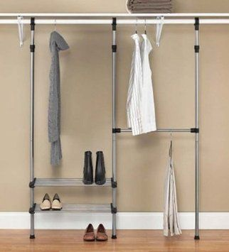 Charming Whitmor 6779 4322 Closet Rod Closet System, Silver