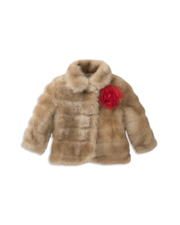 9956df39fd4c kate spade new york Girls' Faux-Mink Coat - Baby   Products   Coat ...