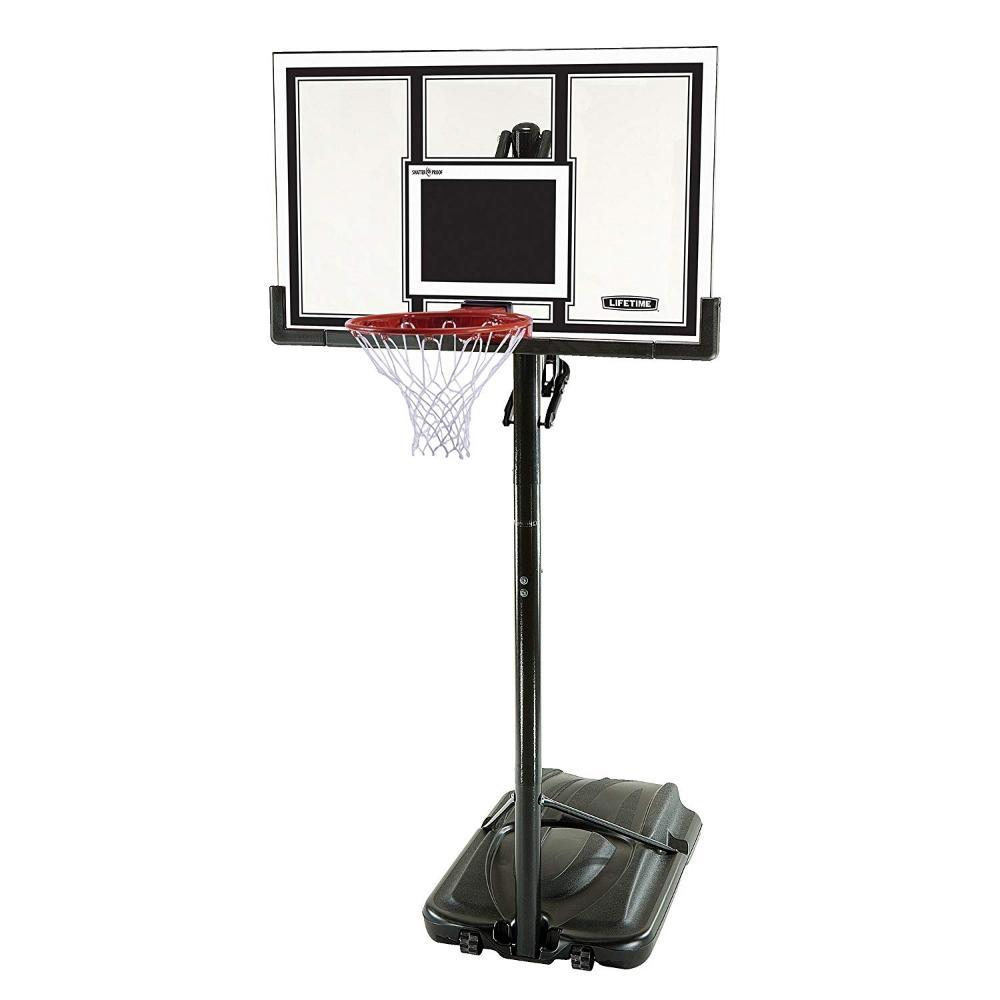 Amazon Com Lifetime 71525 Height Adjustable In Ground Basketball System 54 Inch Shatt Portable Basketball Hoop Adjustable Basketball Hoop Basketball Systems