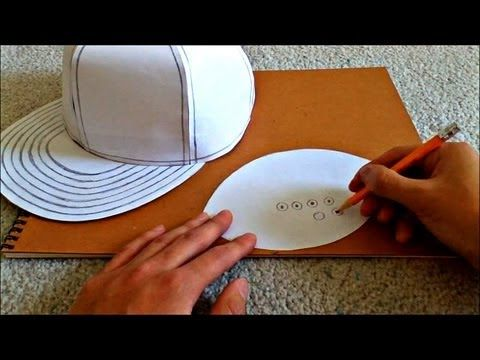 d17a52a81d432 Tutorial on How to Make a Flat Brimmed Paper Hat (New Era Style ...