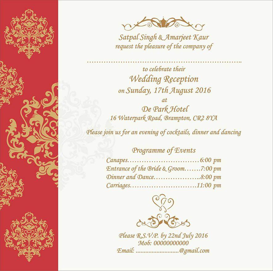 Wedding Invitation Wording For
