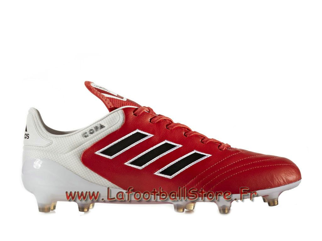 super popular 8c50c b5cb0 Adidas Homme Chaussure de FootBall Copa 17.1 Firm Ground Boots Blanc Rouge  BB3551