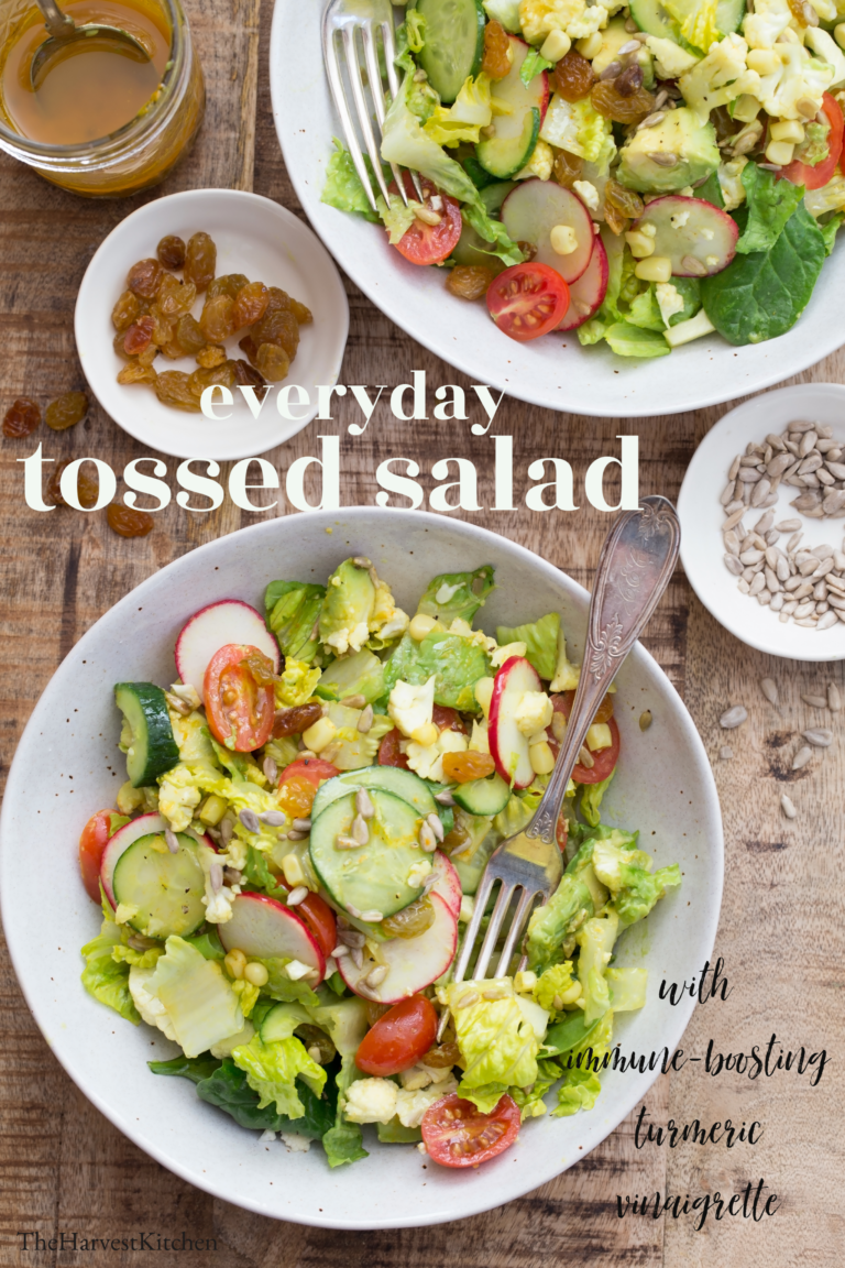 Everyday Tossed Salad Recipe Tossed Salad Salad Mixed Greens Green Salad Recipes