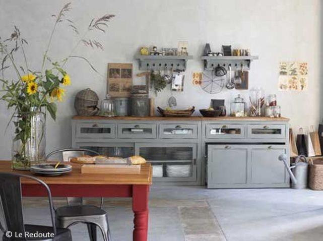 Deco Cuisine Esprit Campagne Ancienne Ferme Pinteres - Meuble rangement cuisine la redoute pour idees de deco de cuisine