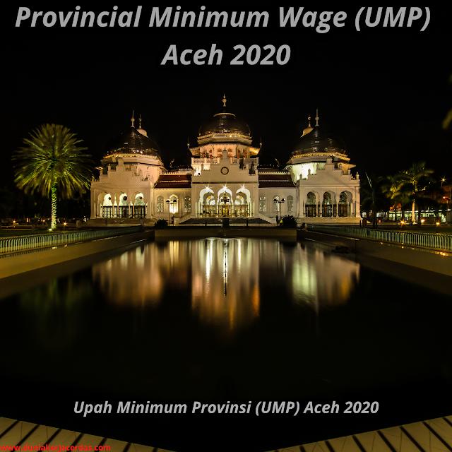 Minimum Provincial Wage Ump Aceh 2020 Complete Sk Pdf In 2020 Aceh Provincial Minimum Wage