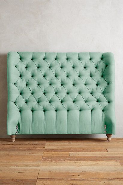 Linen Tufted Wingback Headboard #anthropologie | home | guest room ...