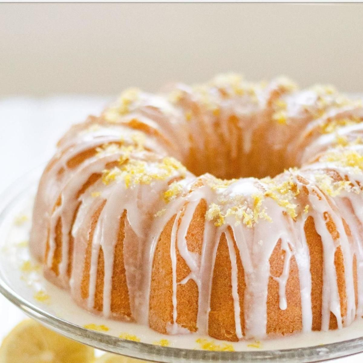 Super Moist Buttermilk Lemon Pound Cake With Glaze Recipe In 2018