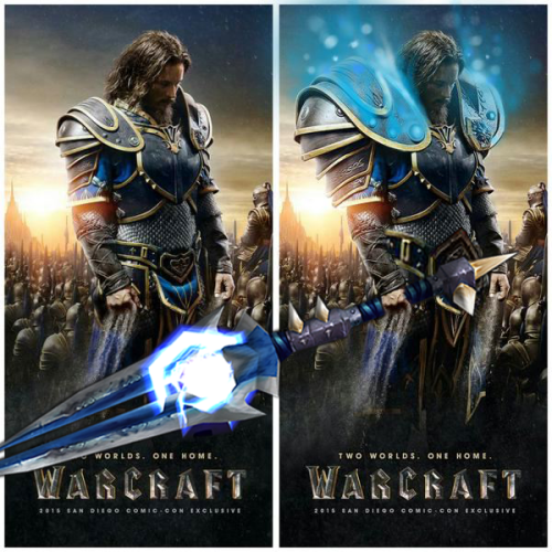 Felt like the Warcraft poster still needed some changes…  8