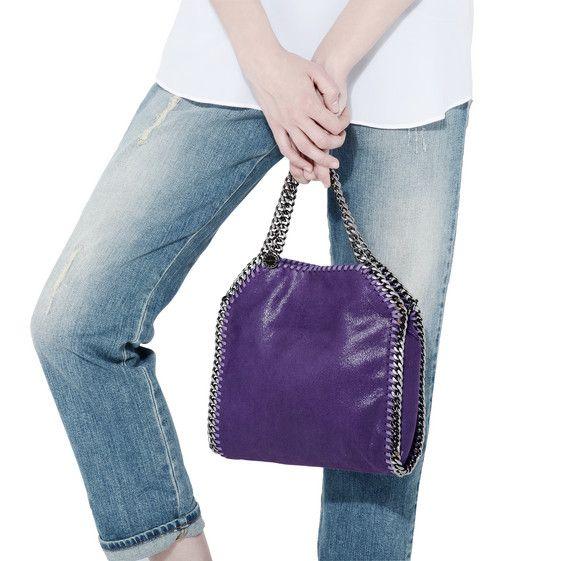 STELLA McCARTNEY Bright purple Falabella Mini Tote Falabella Mini Bags D a 70a5e0965e451