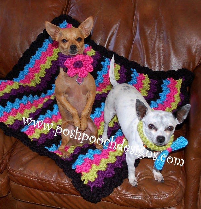 Posh Pooch Designs Dog Clothes: Chunky Blanket Free Crochet Crochet ...