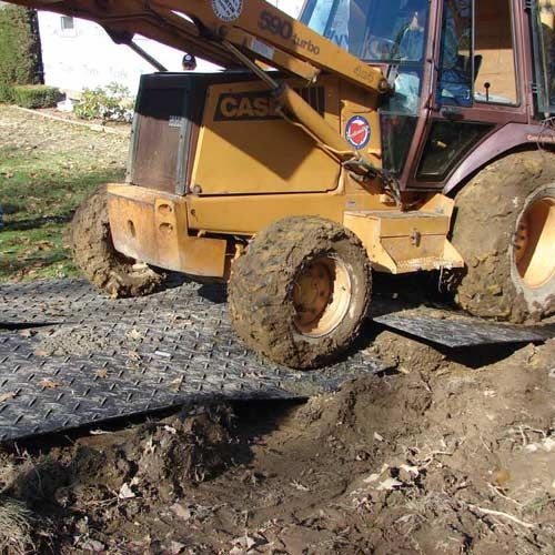Ground Protection Mats 4x8 Ft Clear Rubber Flooring Martial Arts Mats Gym Flooring Tiles