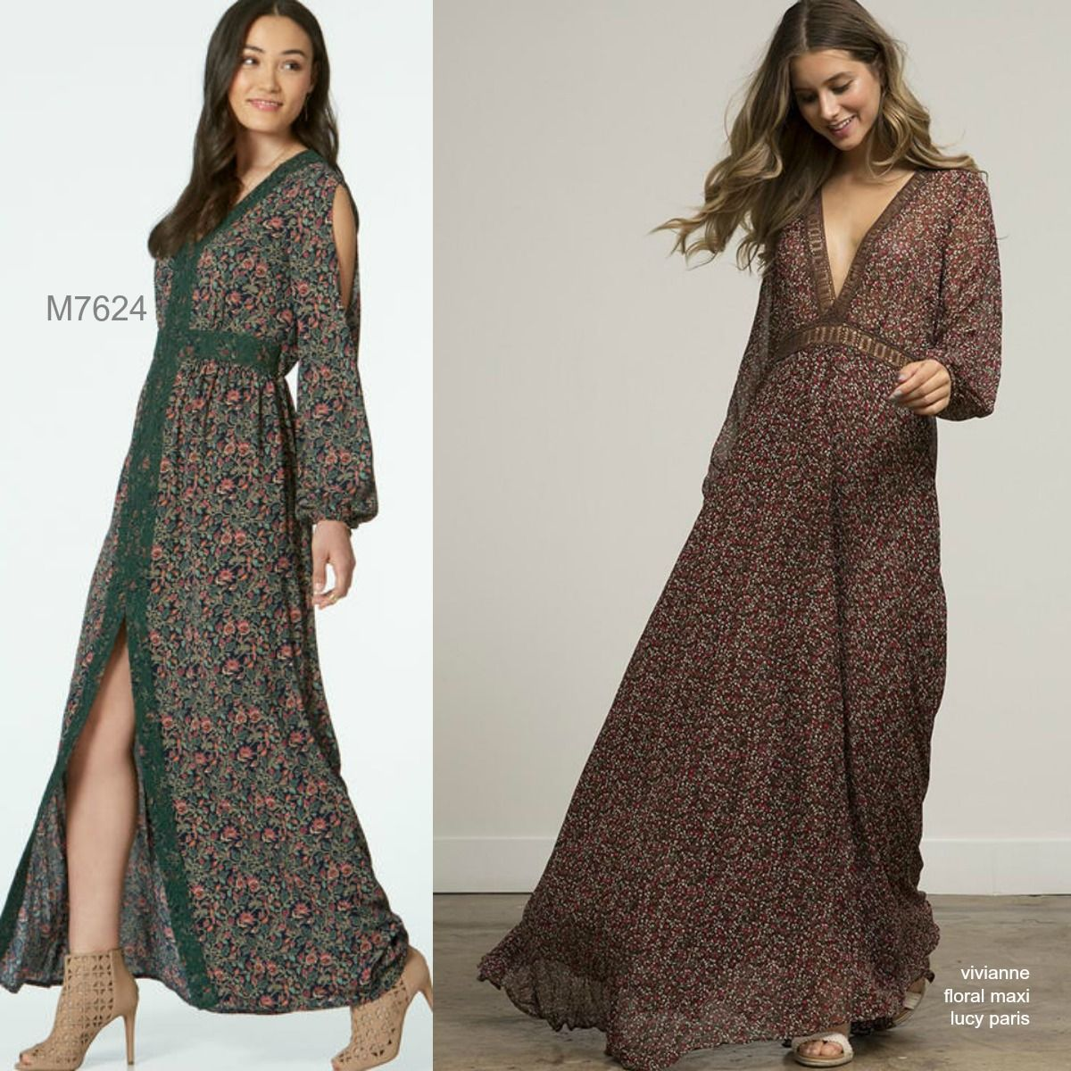 Sew the look mccalls m7624 maxi dress sew the look mccalls sewing pattern misses banded dresses with sleeve and length options jeuxipadfo Images