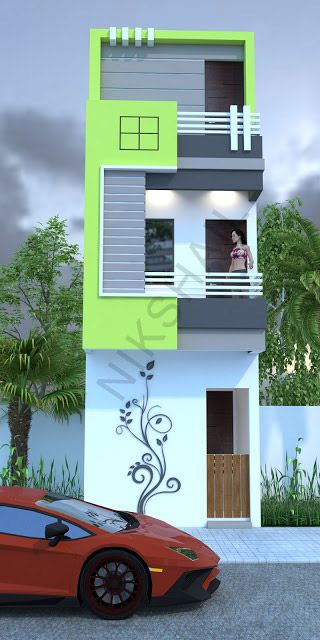 Small House Elevation Design Small House Design Exterior Narrow: House Front Wall Design, Narrow House Designs, House Front