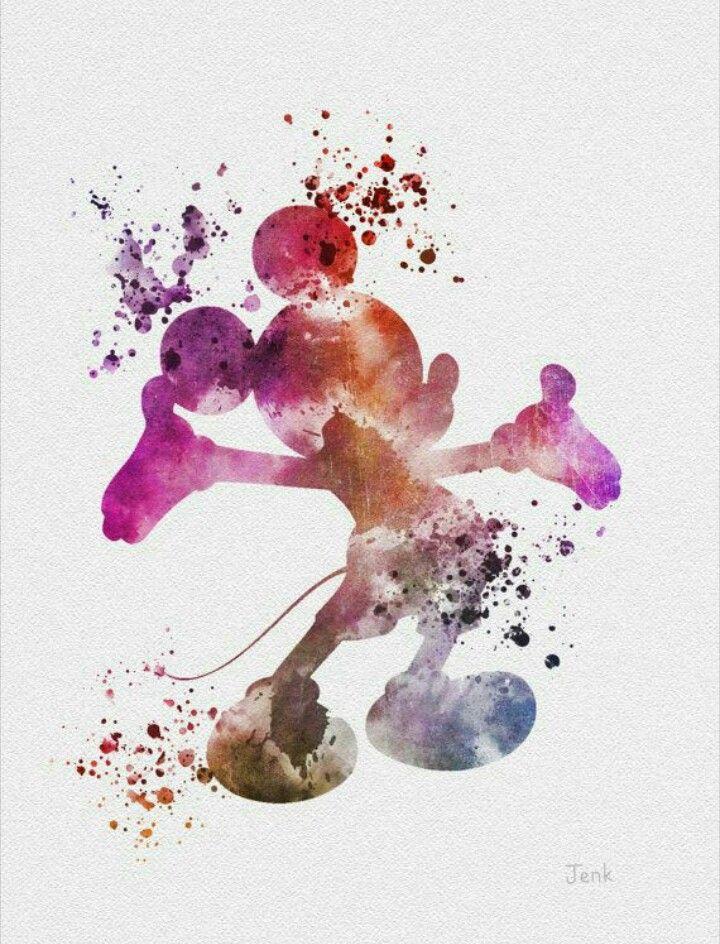 Watercolor disney by Megan Shepard on Disney all the way