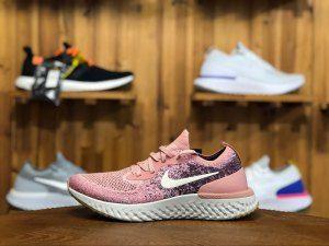 3a73b2731fc0 Nike Epic React Flyknit iD Powder Rice White AJ7286 661 Womens Running Shoes