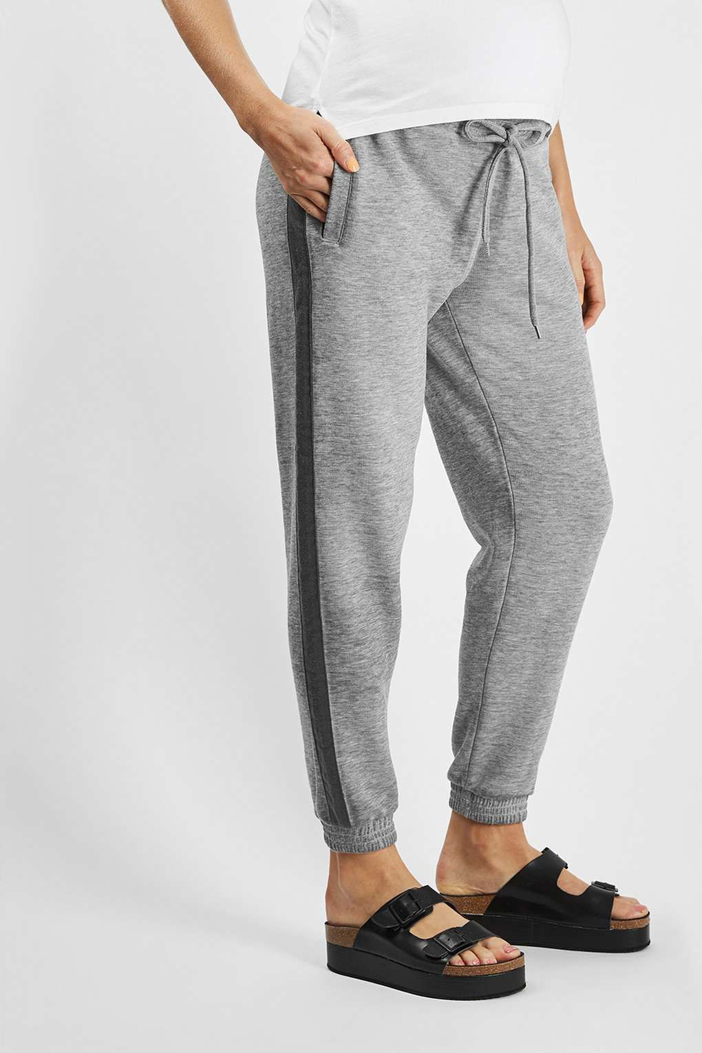 162cb6fe6dd8a MATERNITY Side Stripe Jogger | pants | Joggers, Maternity Activewear ...