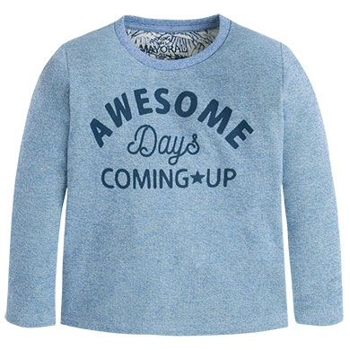 T-shirt awesome l/s Blue - Mayoral