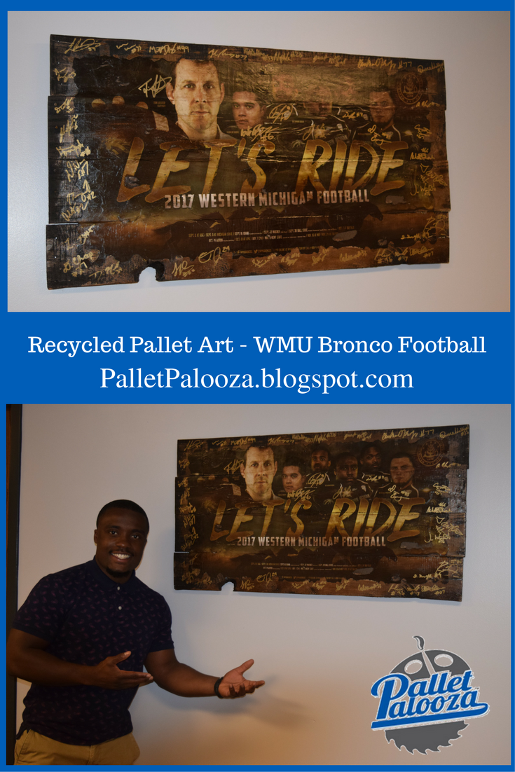 Bid on this signed Recycled Pallet Creation benefiting Goodwill ...