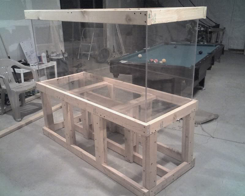 Aquarium stand 75 gallon wood google search 251 berry for Fish tank table stand