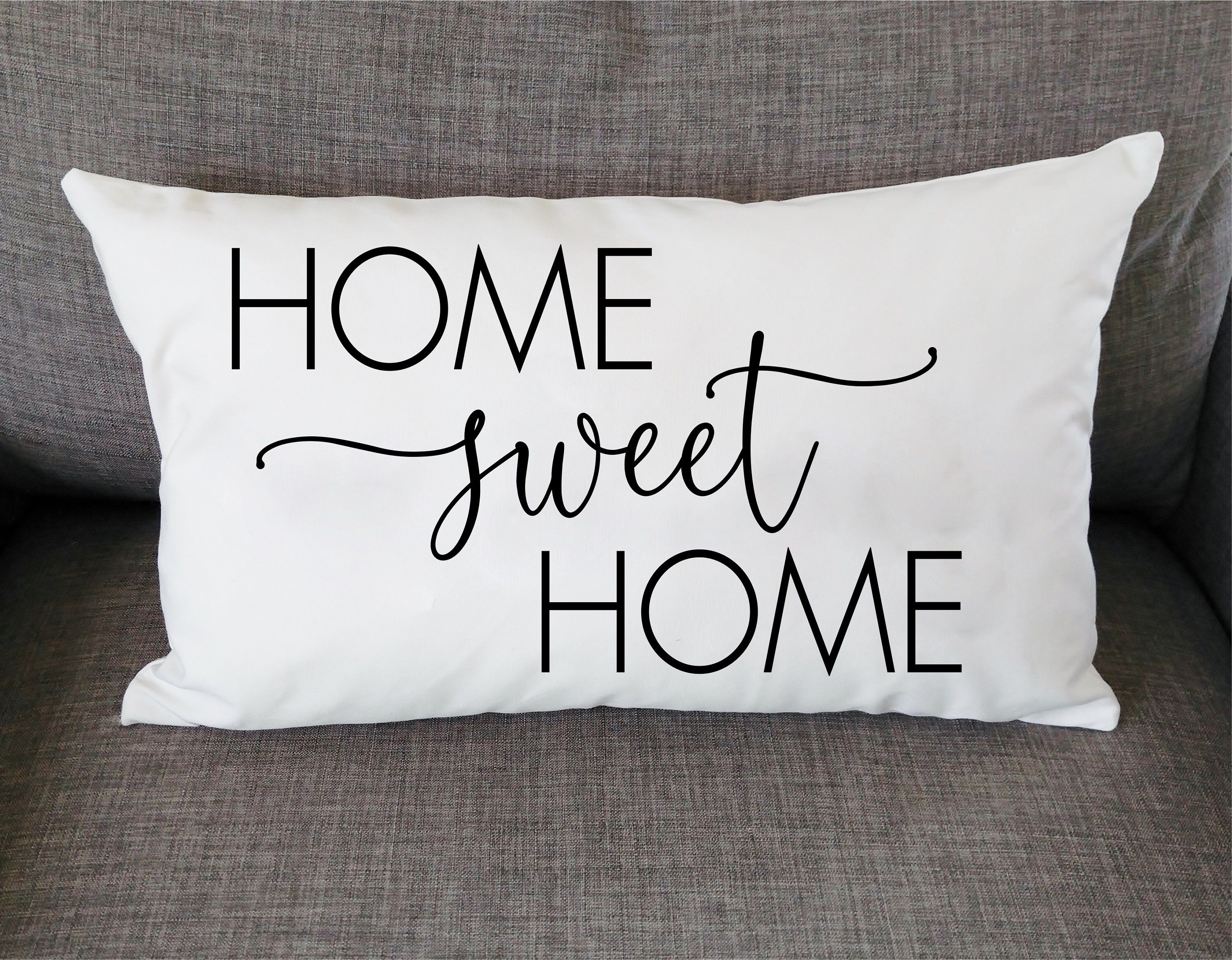 Home Sweet Home Throw Pillow Cover Housewarming Gift New