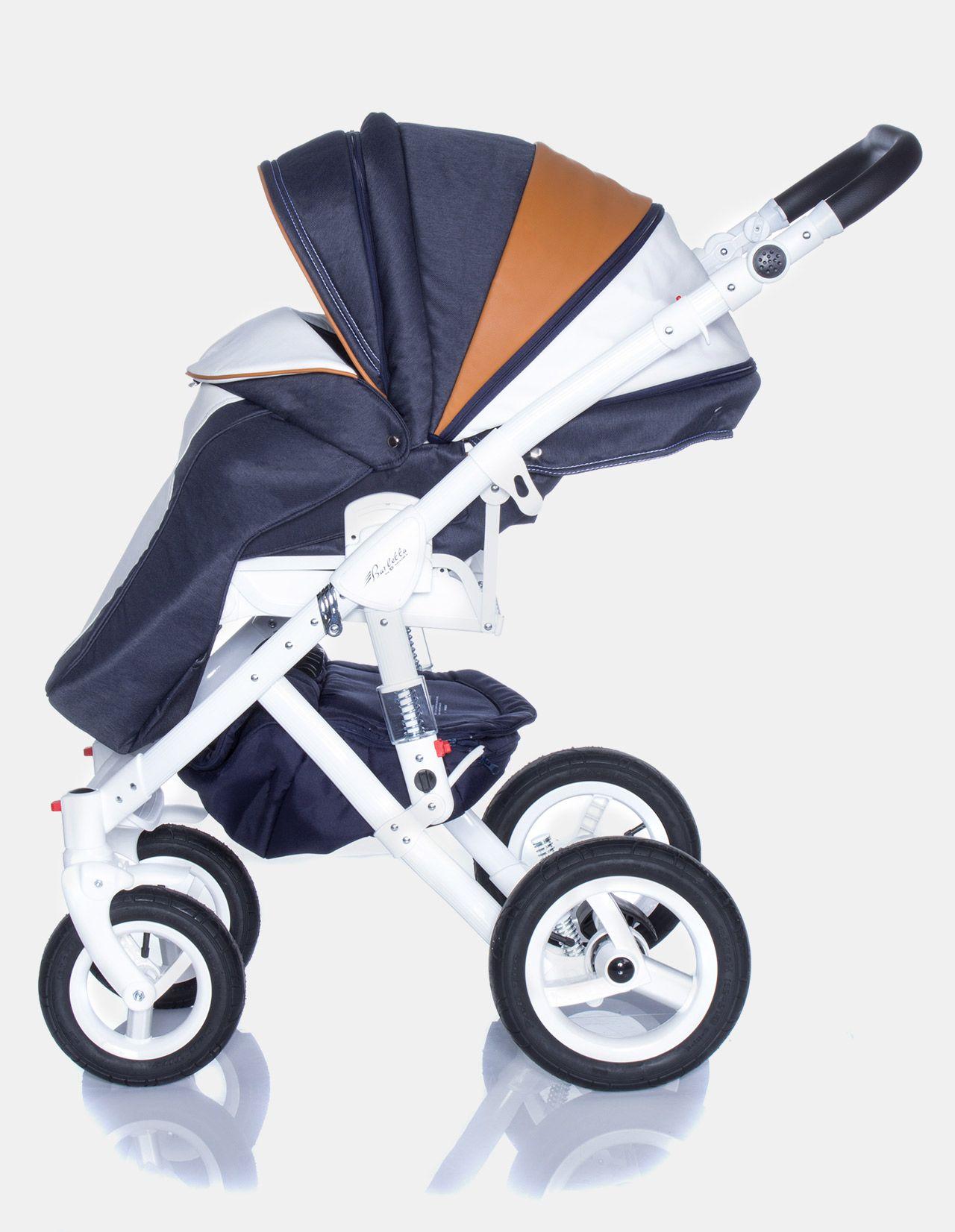 Kinderwagen zwillinge maxi cosi  Adamex Barletta New B7 Karamell-Dunkelblau 3in1   Kinderwagen ...