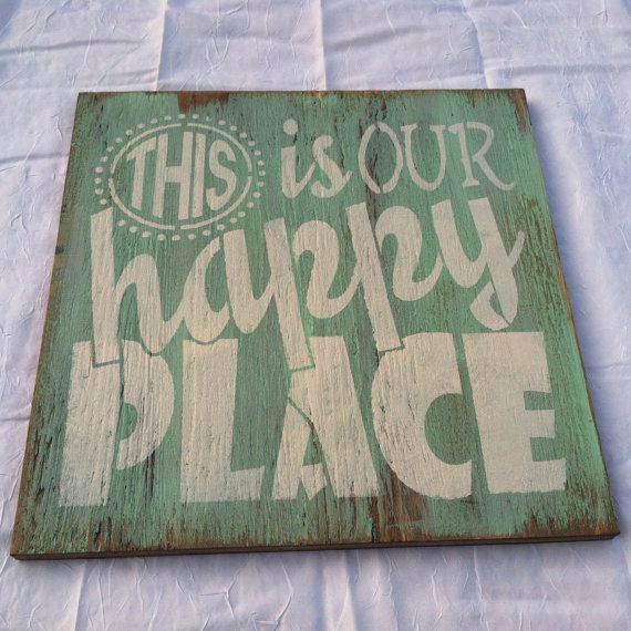 Exceptional This Is Our HAPPY PLACE Hand Painted, WELCOME, Wall Hanging, Home Decor  12x12