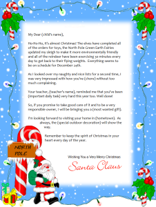 Free Printable Santa Letter  Letter  Backgrounds  Christmas