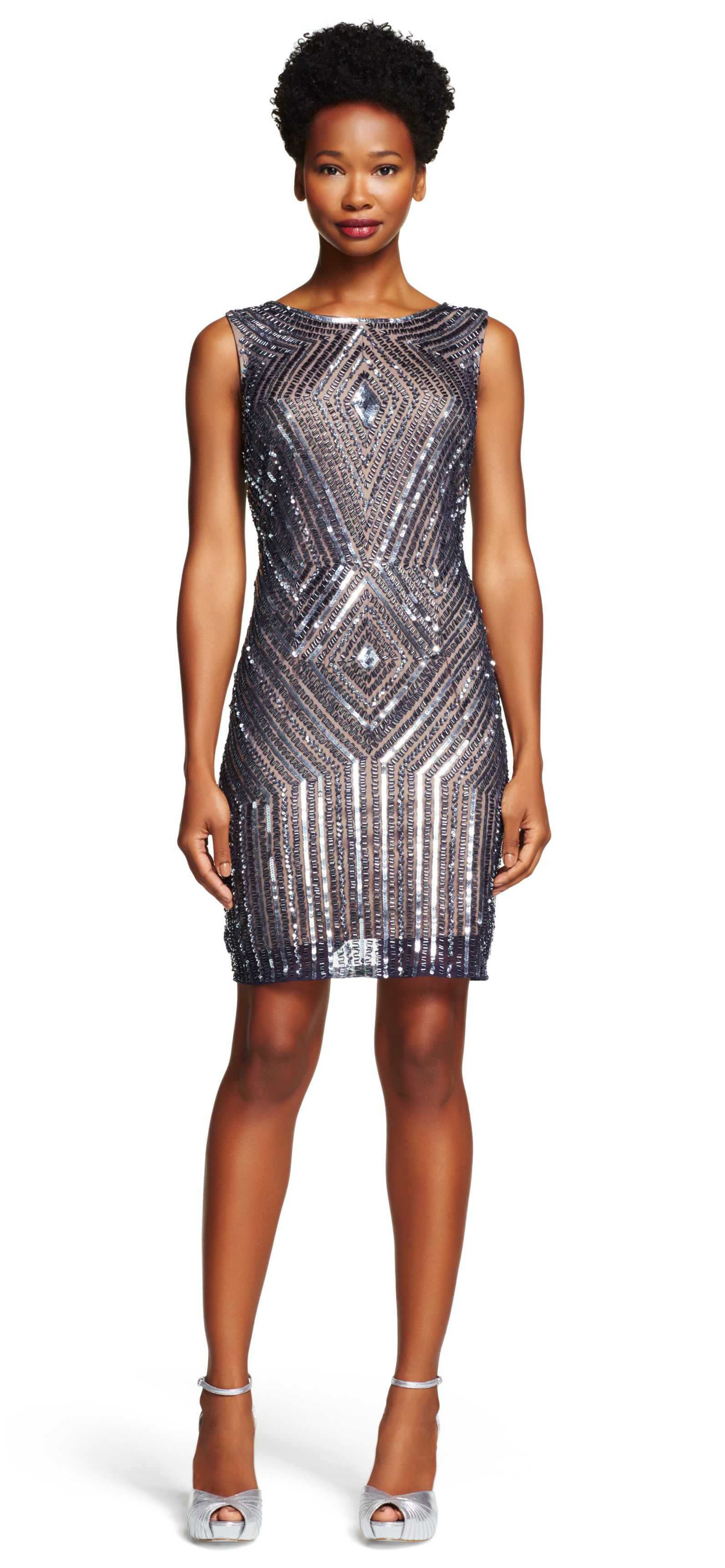 Sleeveless Fully Beaded Cocktail Dress - Adrianna Papell | vestidos ...