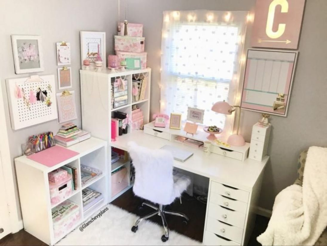 Outstanding 44 Creative Art Studio Organization Ideas For Workspace Desks Http Decortip Com Index Php 2018 10 09 Ikea Home Office Ikea Home Diy Office Decor