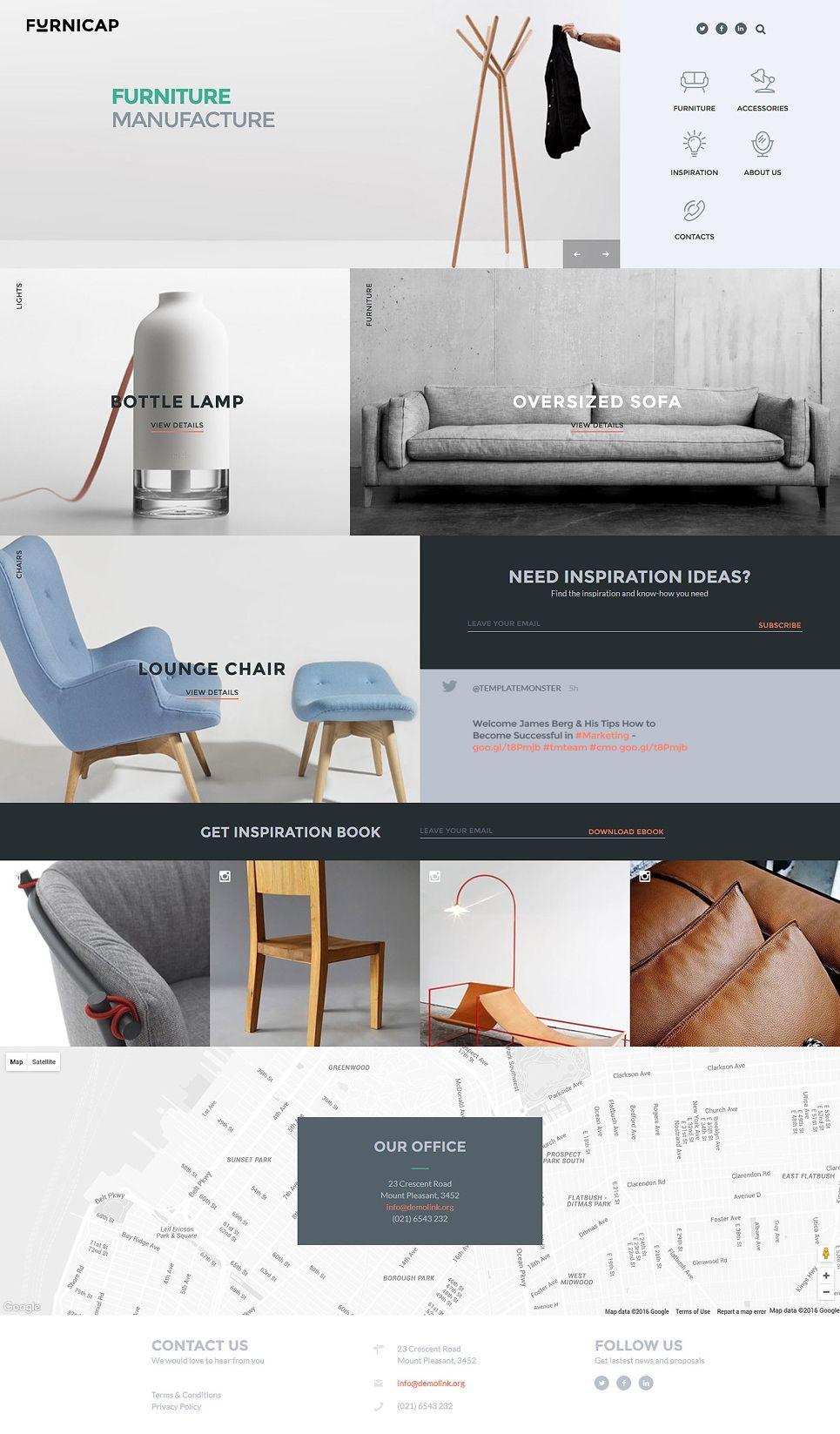Furnicap Website Template Furnicap Website Template Furniture Furniture Design Design