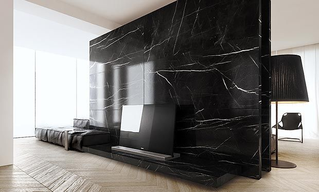 wall.  interior design of livingroom zone in villa, warsaw