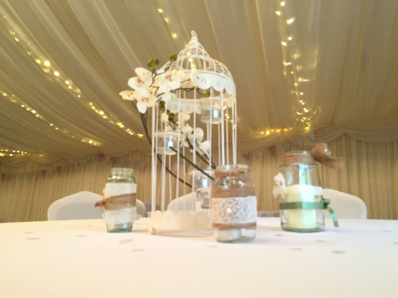 Wedding Venue Marquee Wedding Bird Cage Vintage Candles Fairy