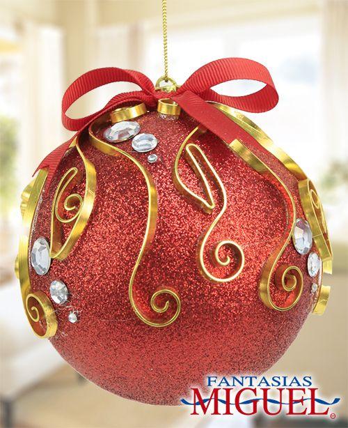 Esfera roja navidad 2014 adorno decoraci n for Navidad adornos manualidades navidenas