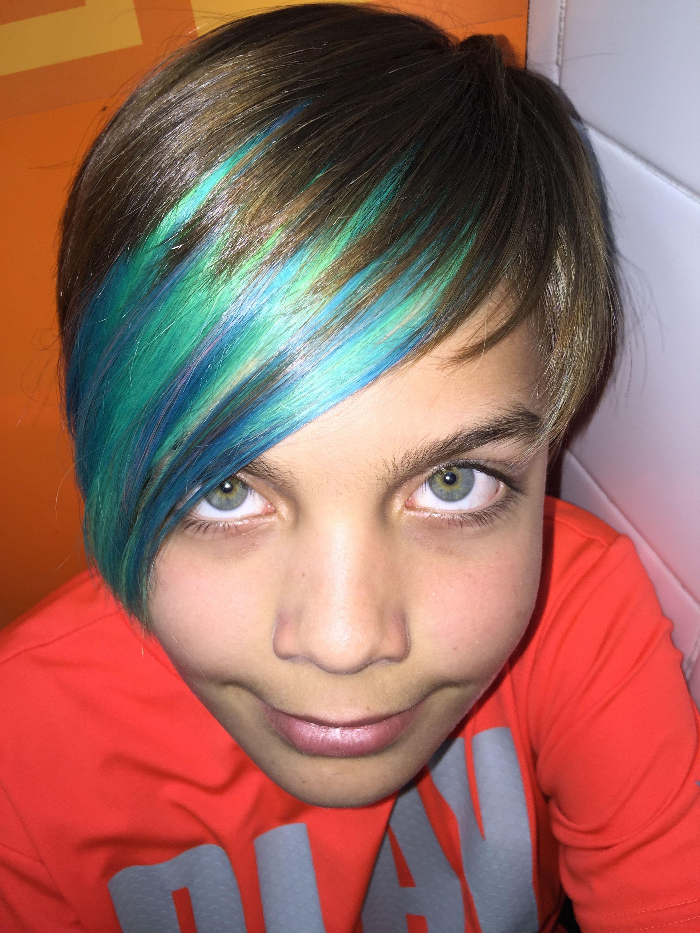 Neon Hair Boys Skater Haircut Blue Hair Privana Neon Colors Boys Blue Hair Boy Hairstyles Boys Haircuts