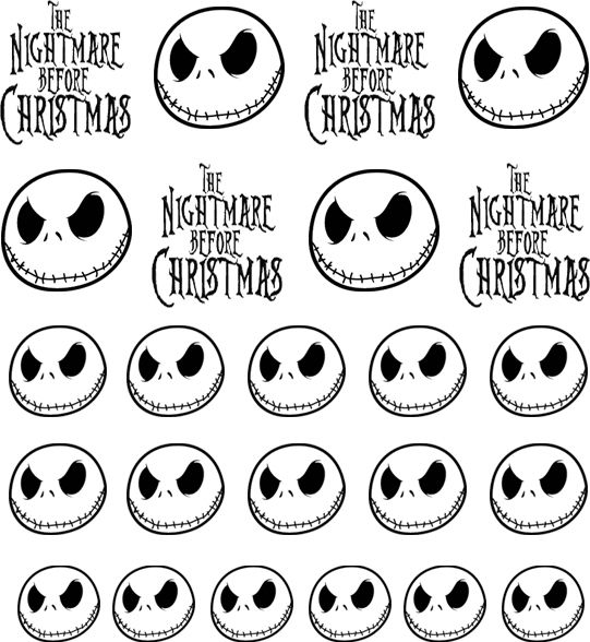 Nightmare Before Christmas Jack Skellington Nail Decals | Transfers ...
