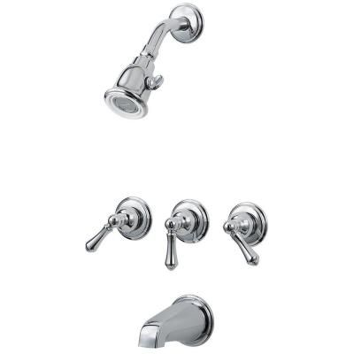 Pfister 01 Series 3-Handle Tub and Shower Faucet Trim Kit in ...