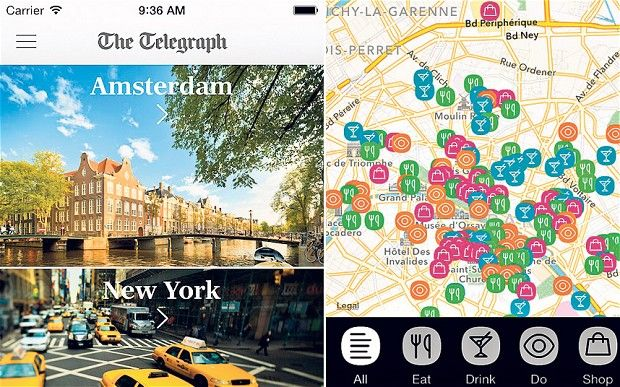 Corliss Group Travel Telegraph Travel Guides App - Want to make the - new apple app world map