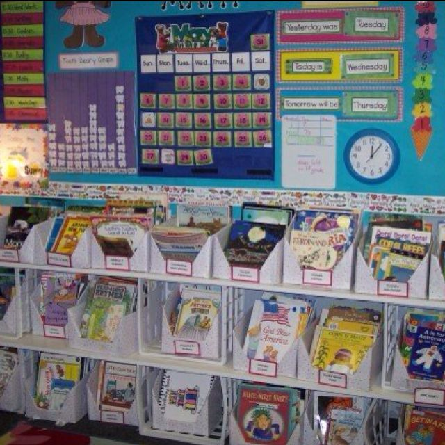 Classroom Library...boxes out of Notebook boxes from Target after Back to School shopping, covered with contact paper.